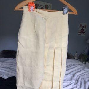 Ralph Lauren Pastel yellow midi skirt